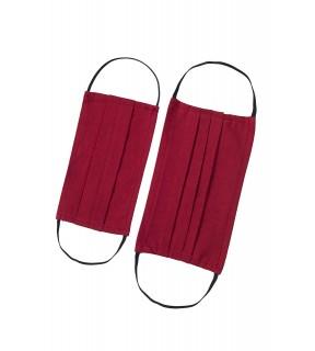 Mască de protecție față pentru copii, reutilizabilă, din bumbac roșie