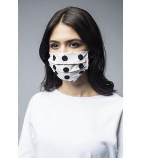 Mască de protecție pentru față, reutilizabilă, din bumbac polka dots