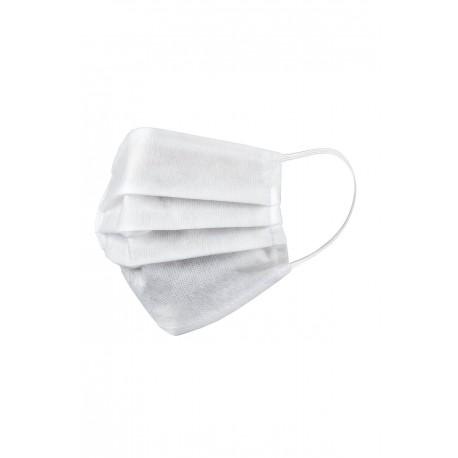 Mască de protecție pentru față, de unică folosință, din polipropilenă, albă