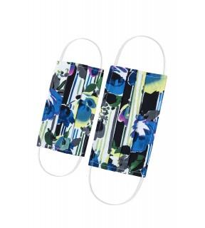Mască de protecție față pentru copii, reutilizabilă, din bumbac cu imprimeu multicolor