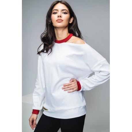 Bluză din bumbac alb