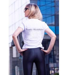 Tricou din tricot cu imprimeu pe spate