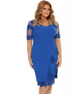Rochie Plus Size Felicia Albastră