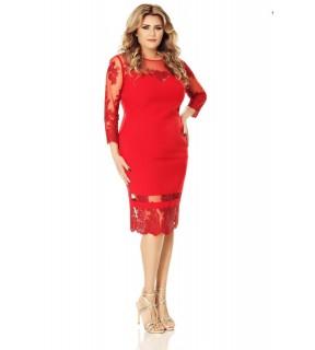 Rochie Plus Size Gratiela Roşie