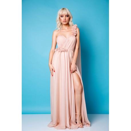 Rochie lungă cu bust fronsat Ronna