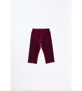 Pantalon din catifea de bumbac pentru bebeluşi, fete