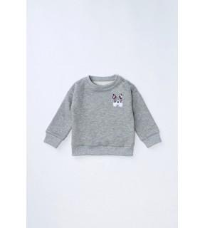 Bluză din bumbac vătuit cu broderie DOG pentru bebeluşi, băieţi