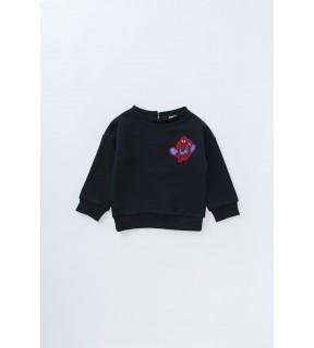 Bluză din bumbac flauşat cu broderie SPIDERMAN pentru bebeluşi, băieţi