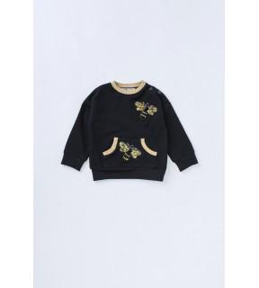Bluză din bumbac cu albine brodate pentru fete