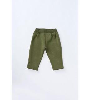 Pantalon din bumbac flauşat pentru fete