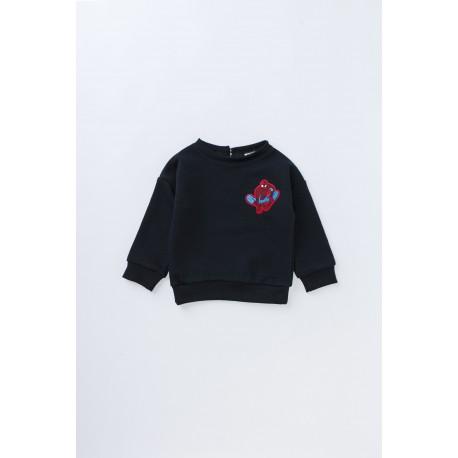Bluză din bumbac cu broderie SPIDERMAN pentru băieţi