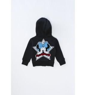 Hanorac din bumbac vătuit cu broderie Mickey Mouse pentru băieţi