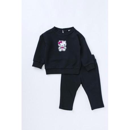 Bluză din bumbac cu broderie Hello Kitty pentru bebeluşi, fete