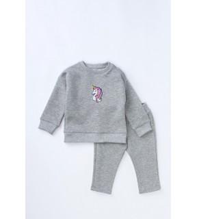 Bluză din bumbac cu broderie Unicorn pentru bebeluşi, fete