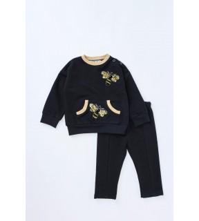 Bluză din bumbac cu albine brodate pentru bebeluşi, fete