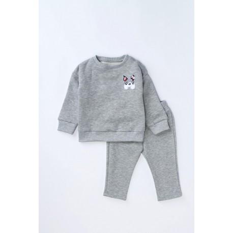 Bluză din bumbac flauşat cu broderie DOG pentru bebeluşi, băieţi