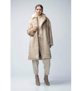Jachetă de blană artificială