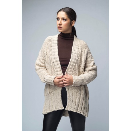 Cardigan oversize din tricot
