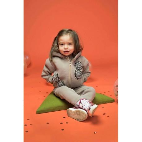 Hanorac din bumbac vătuit cu broderii Star pentru bebeluşi, fete