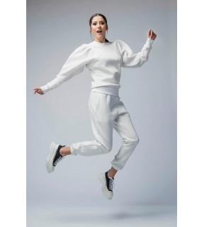 Pantaloni jogger din bumbac vătuit
