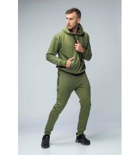 Pantaloni jogger din bumbac flauşat cu buzunare cu fermoar
