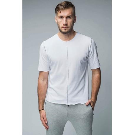 Tricou din tricot cu cusături contrastante