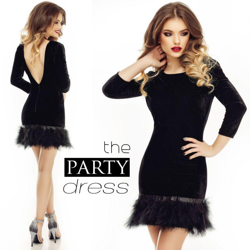 rochie neagra scurta de petrecere