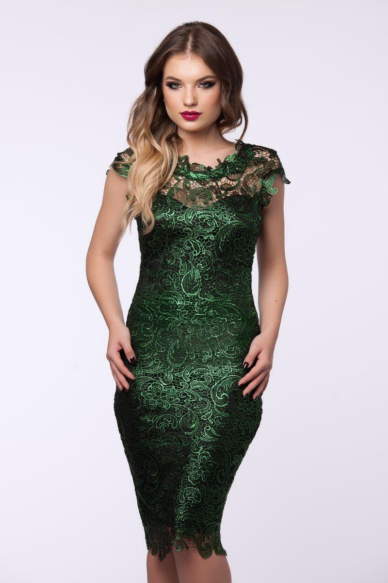 rochie verde eleganta