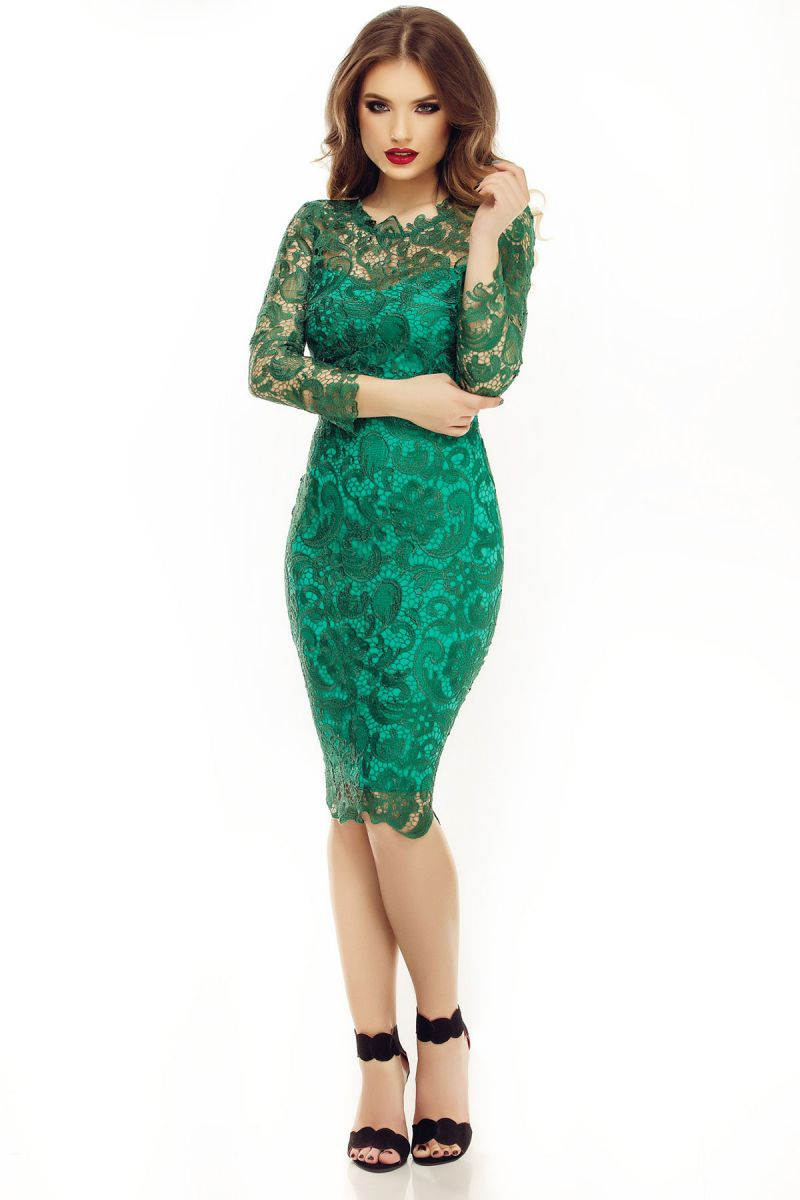 Cum sa porti rochiile elegante din dantela verde?