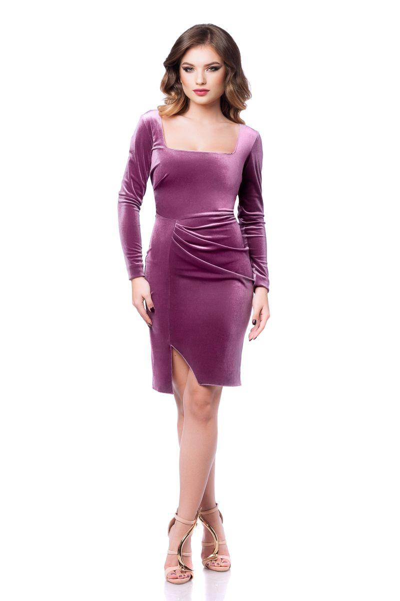 rochie-eleganta-de-zi-catifea