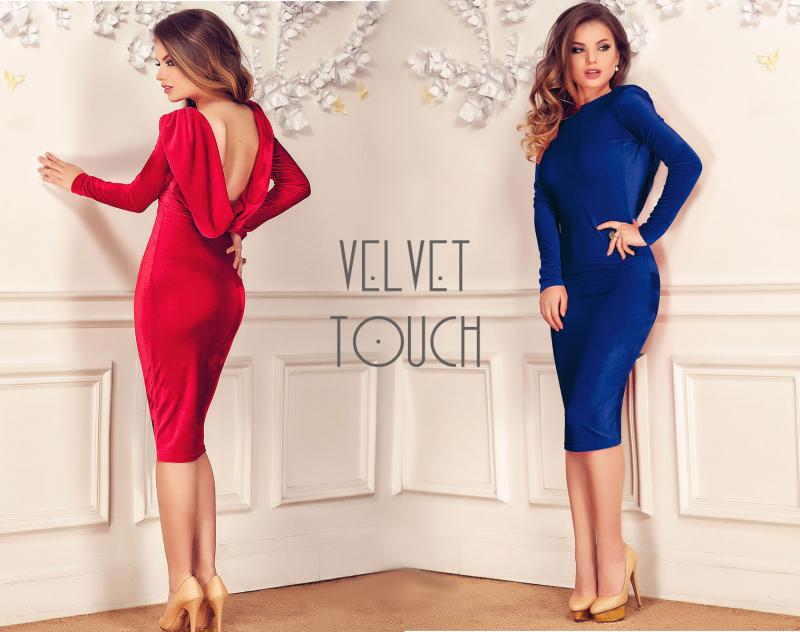 Hot trend: rochiile de catifea elegante sau casual, pentru o toamna de vis