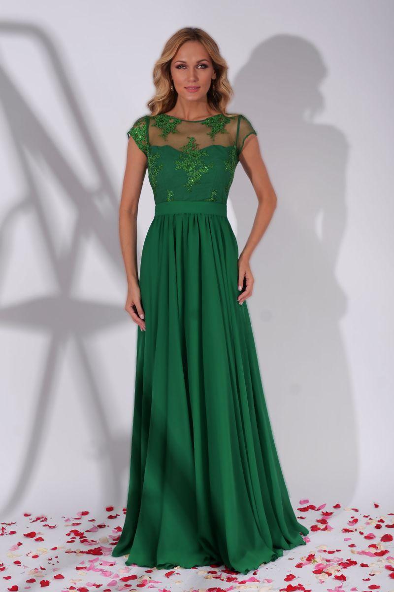 rochie verde lunga