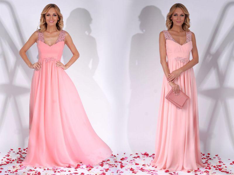 Cum porti rochiile de nunta lungi roz?