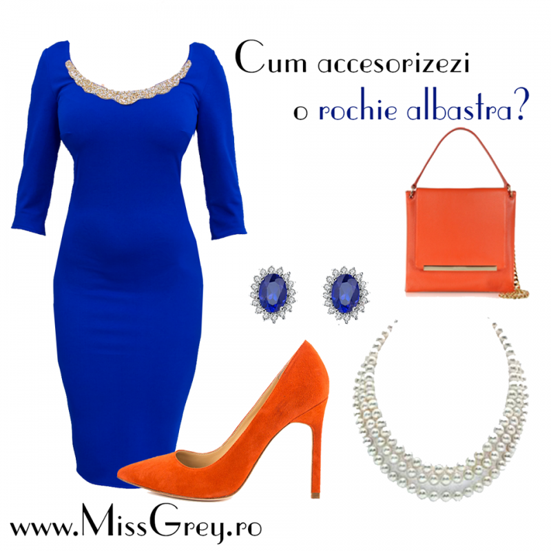 Rochii albastre: cum le accesorizam la inceput de primavara?