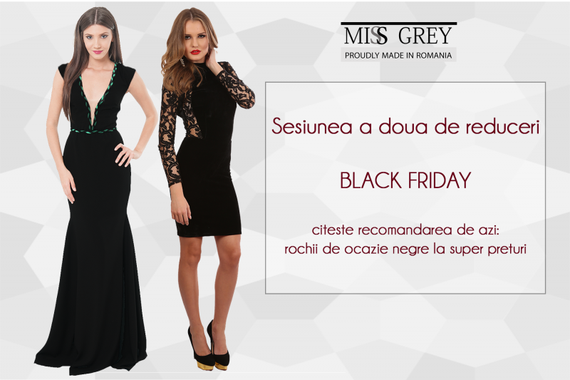 Black Friday 2021, reduceri la rochii elegante de seara si de ocazie