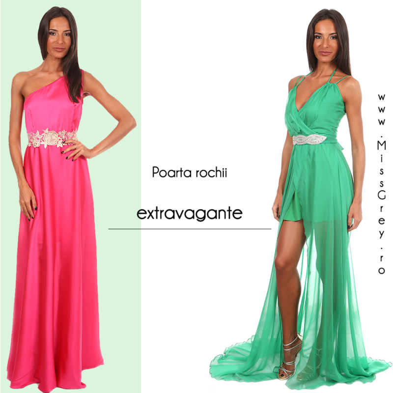 Poarta rochii de ocazie extravagante