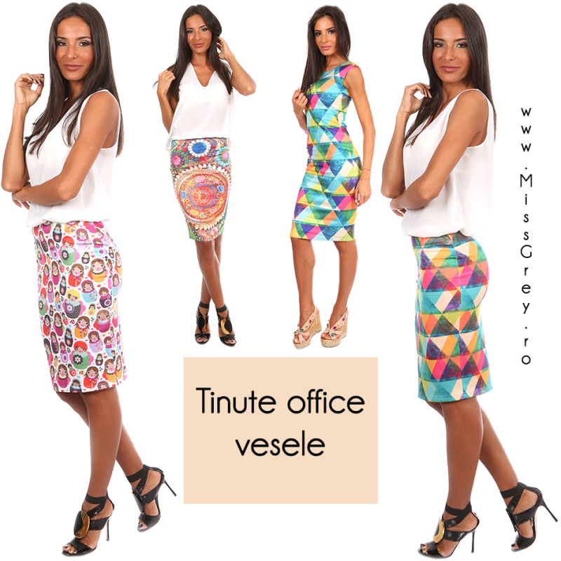 Combinatii vesele de tinute office