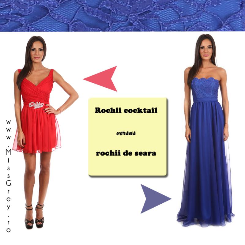 Rochii cocktail versus rochii de seara - cunoaste diferentele!