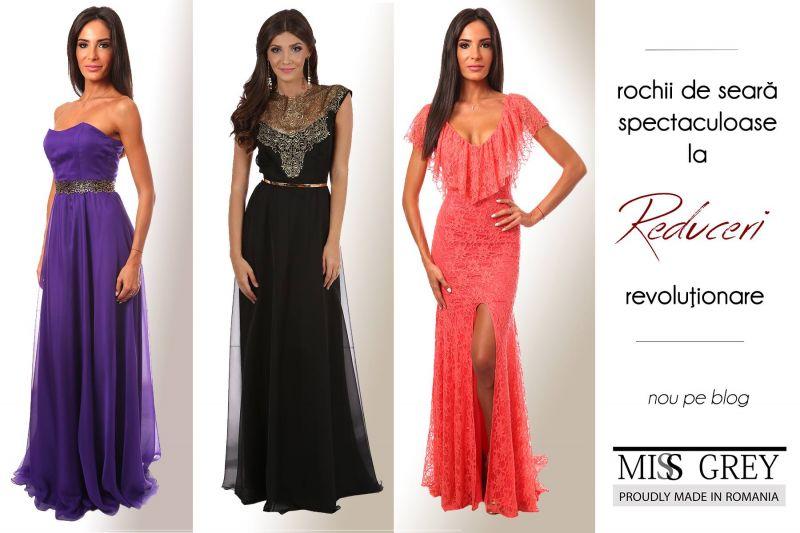 Reducerile la haine de dama continua: rochii de seara la preturi mici