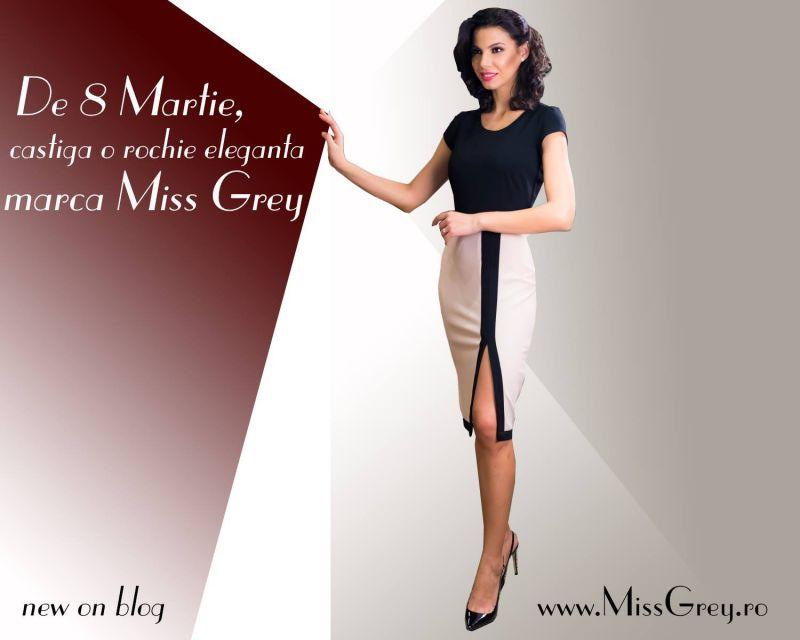 De 8 Martie, castiga o rochie eleganta marca Miss Grey!
