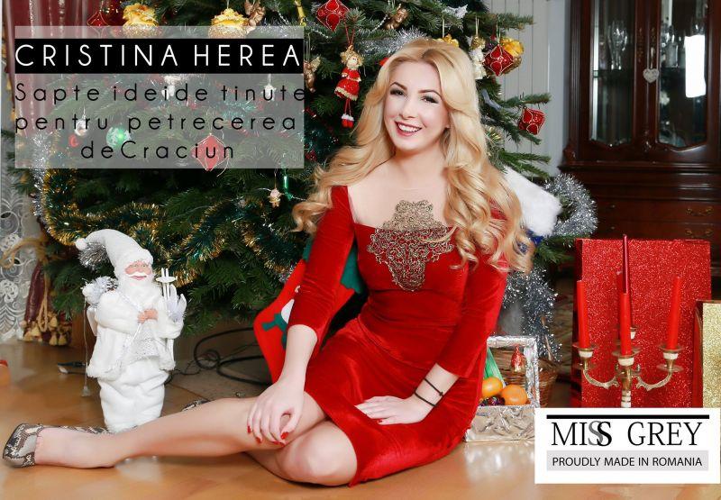 Cristina Herea iti prezinta cele mai frumoase rochii de Craciun