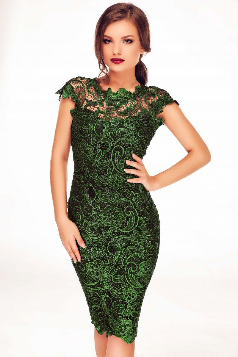 rochie-dantela-verde
