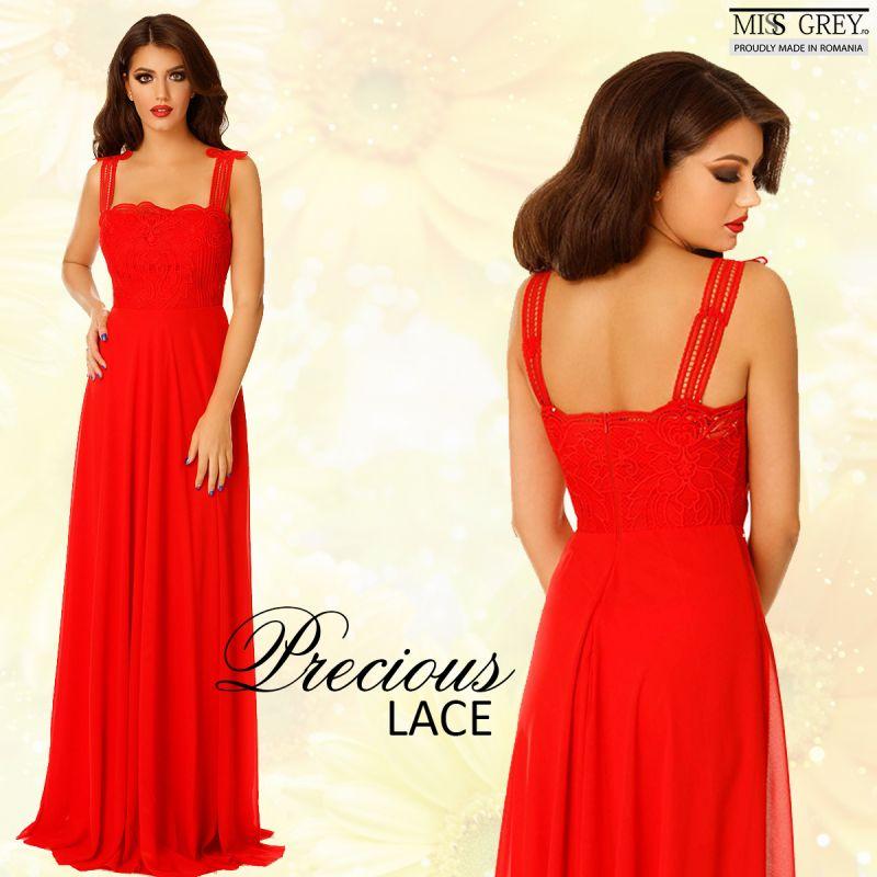 Exerseaza eleganta purtand rochii de seara cu dantela la bust