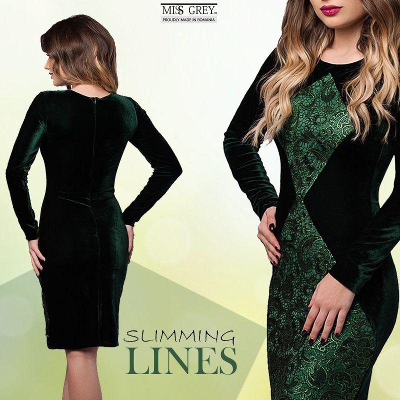 Cum te subtiaza cateva linii bine plasate pe o rochie de ocazie