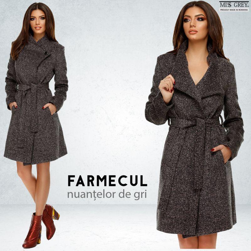 Cum sa porti cu stil un palton gri
