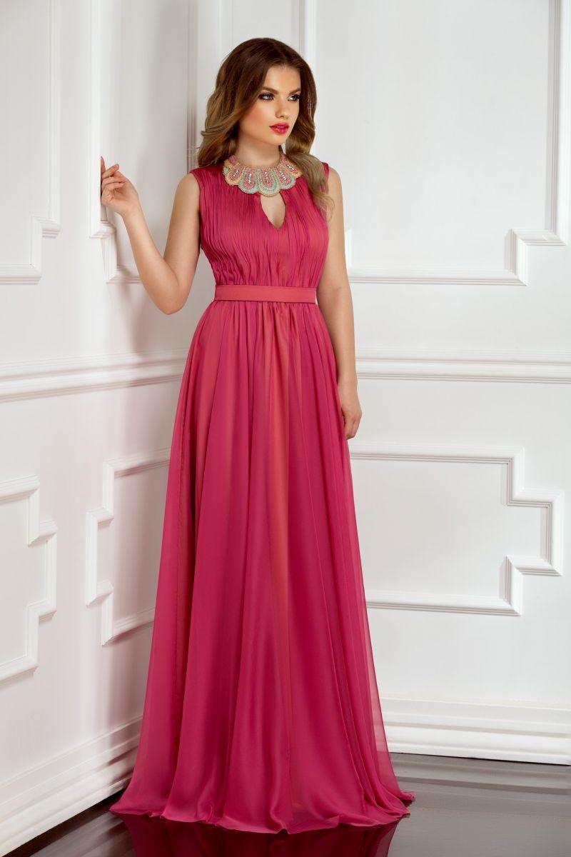 rochie-a-line-de-seara-lunga-roz
