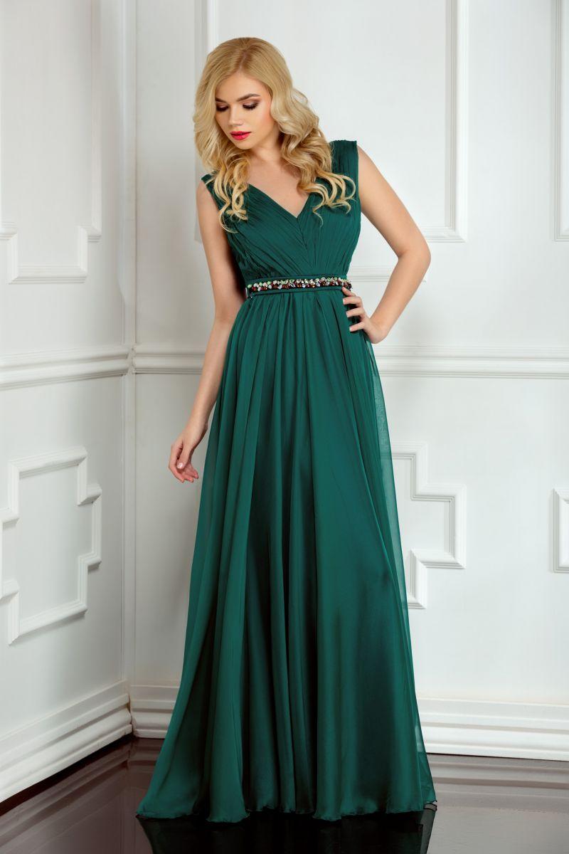 rochie-de-domnisoara-de-onoare-lunga-verde