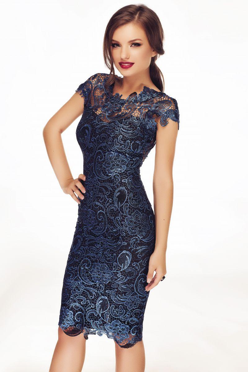 rochie-revelion-dantela-albastra