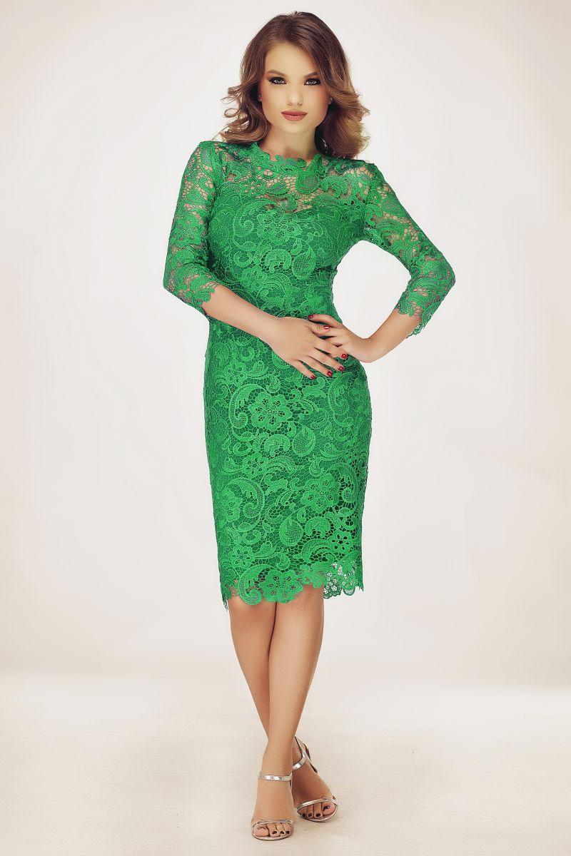 rochie-balul-bobocilor-dantela-verde