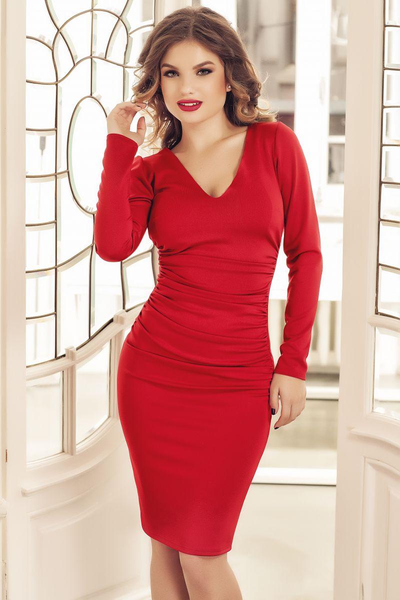 rochie-eleganta-de-zi-rosie